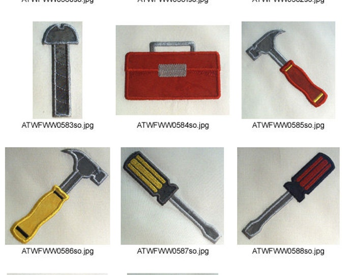 Fathers-Day-Tools. ( 11 Machine Embroidery Designs from ATW )