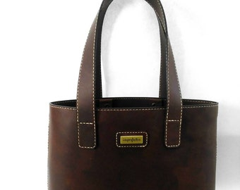 Dark Cocoa leather Tote, leather bag.