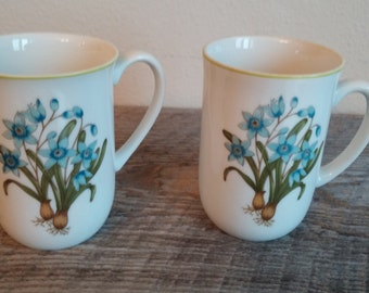 Vintage China Coffee Cups, Made in Japan, Floral Coffee Cups, Vintage Coffee Cups, Set of 3 Coffee Cups