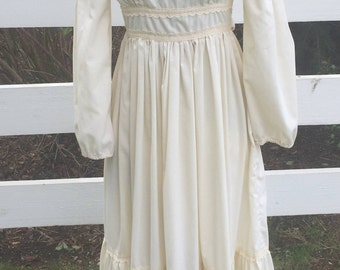 Vintage Jessica Gunne Sax Dress Wedding Summer Casual Cotton Dress