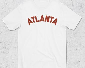 Atlanta graphic tee -Atlanta Tshirts - Streetwear shirt  tees - Streetstyle shirts -  White Graphic Tees - Atlanta Minimal Tee