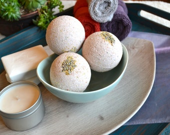 Lavender and Chamomile RELAX Bath Bombs