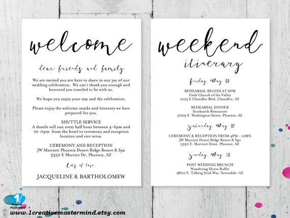 Diy wedding welcome bag note welcome bag letter printable diy wedding welcome bag note welcome bag letter printable wedding itinerary digital instant download editable template 1cm100 1 pronofoot35fo Gallery