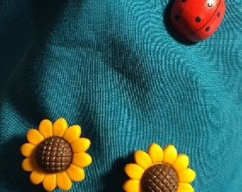 Cute SUNFLOWERS Sun Flowers SunflowerClog Shoe Charms