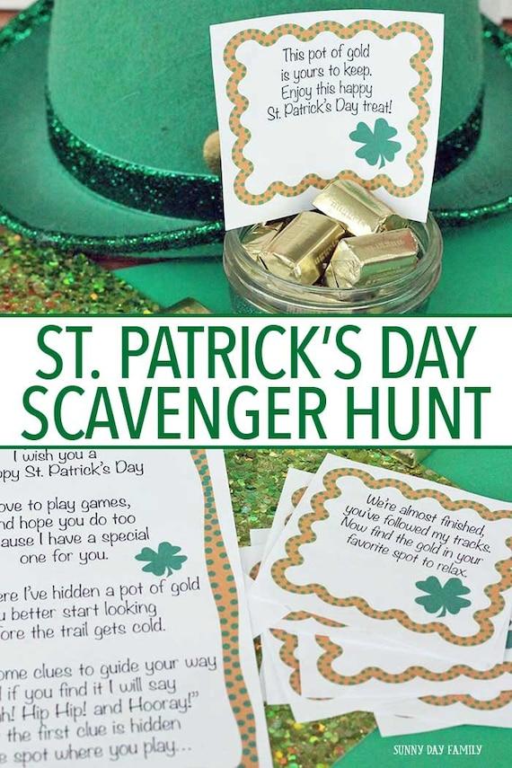 St. Patricks Day Scavenger Hunt for Kids Pot of Gold