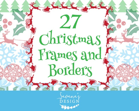 Christmas Border Clipart Holiday Borders Digital