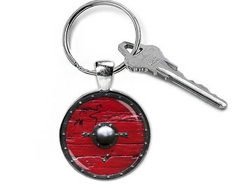 Ragnar Lothbrok Shield Keyring Ragnar Shield Keychain Fandom Jewelry Key Fob Fangirl Fanboy