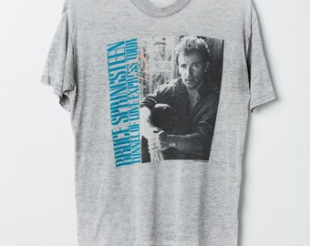 Bruce Springstein Tunnel of Love Express tour vintage graphic t-shirt / L / Heather Grey / 1989