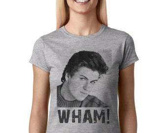 WHAM! George Michael young photo women t shirt WXG-10254