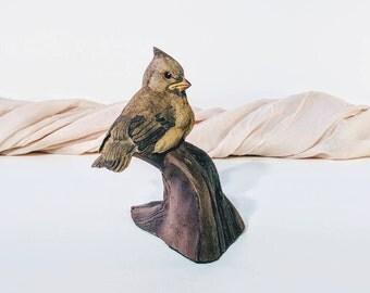 Cardinal figurine/ Cardinal sculpture/ Dandbury mint collectibles/ Danbury mint/ Baby songbirds/ Cardinal/ Baby Cardinal/ Bird figurines