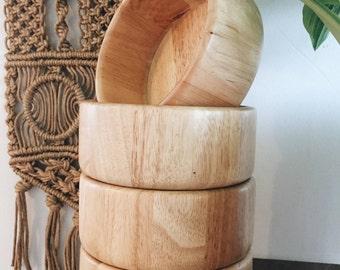 Vintage wood bohemian bowls