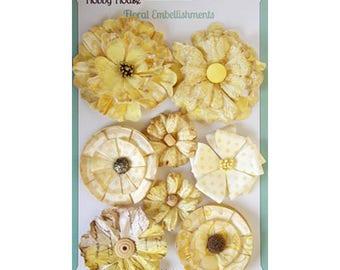 Floral Boutique Lemon Paper Flowers
