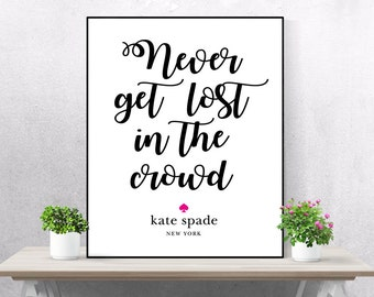 Kate Spade Quotes Kate Spade Set Of 8 Complete Set Kate Spade Wall Art Set
