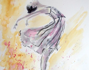 Original ballerina painting,ballerina watercolor painting,ballet painting,ballet watercolor,ballerina dancing,ballerina dancer,ballet art