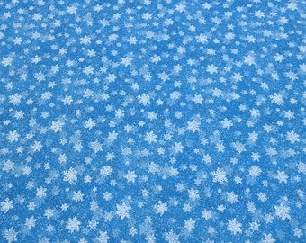 Quiet Bunny Noisy Puppy-Snowflakes Cotton Fabric from Wilmington Prints