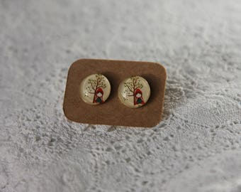 Little Red Riding hood earrings
