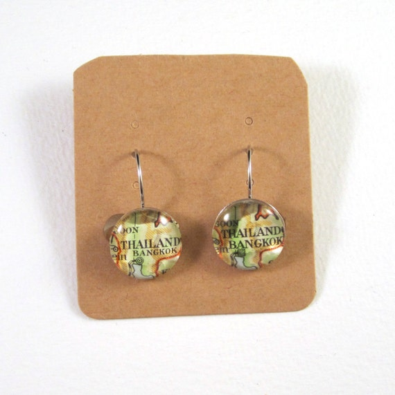 Map earring - Asia variations