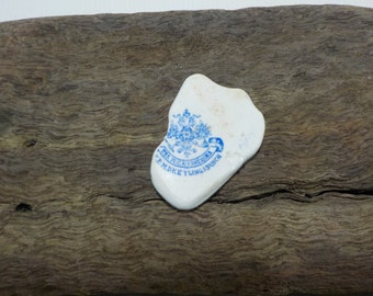 Coat of Arms sea pottery - Unusual Sea Pottery - Genuine Sea pottery - Old Beach Pottery -K.P.M Dreyling & Busch Pottery Shard # 9