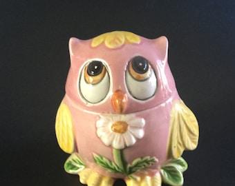 """Vintage Lorrie Design For Josef Originals Pink Owl """"Fridge Fresh"""" Pomanderr"""