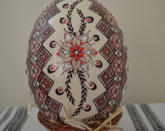 IN STOCK Genuine Decorated Ostrich Egg Gift/Collectible/Decoration (Large)