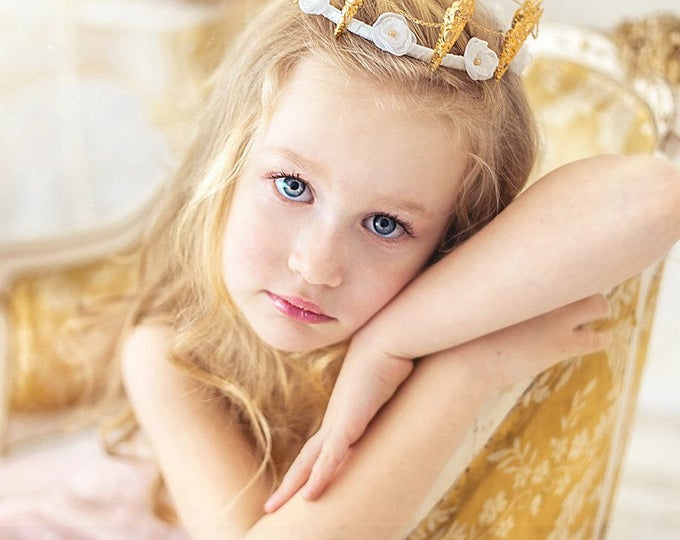 Princess Crown Flower Crown Kids Princess Tiara Baby Crown Birthday Crown Toddler Crown Photo Props Queen Crown, Kids Crown, Kids Costume