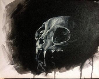 Reflected Cat Skull