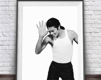 Michael Jackson Poster • Michael Jackson Art MTV Music Prints Jacksons Art 1980s Pop Star Michael Jackson Thriller