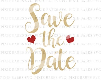 Save the Date SVG, Engagement SVG, Wedding Party SVG, Bride svg, Wedding svg, Fiance svg, Cricut svg, Silhouette svg, svg cutting files