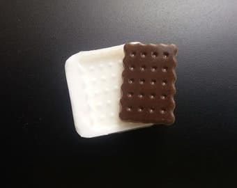 Silicone Chocolate Cookie mold/Fimo or resin!