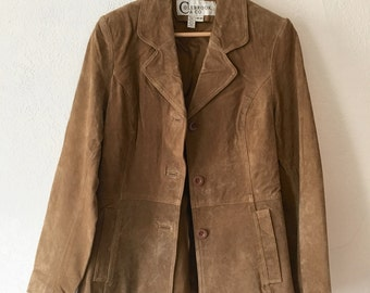 Tan Women's Suede Jacket
