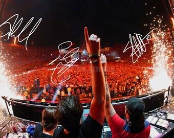 Swedish House Mafia pre signed photo print poster - 12x8 inches (30cm x 20cm) - Superb quality - N.0 2