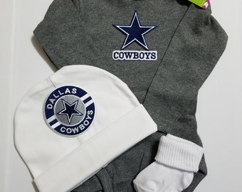 baby dallas cowboys outfit-dallas cowboys baby shower gift-dallas cowboys newborn/dallas cowboys baby outfit/newborn dallas cowboys