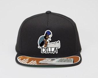 J Dilla Black or gray snapback hat Doughnuts Shining Jay Dee SV Hip-Hop super producer