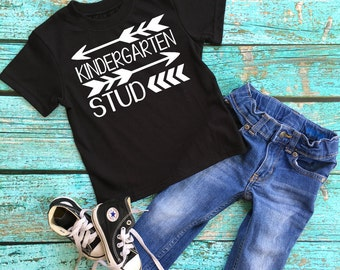 Back to School - Kindergarten Stud - First Day Kindergarden - Boy Shirt - Kinder shirt - Kinder boy shirt - First Day of School Memory Shirt
