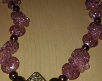 Copper diamond necklace