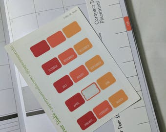 Monthly Flush Tabs for Passion Planner