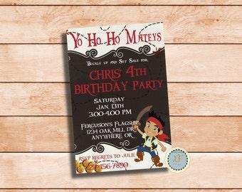 Jake's Pirate Party Invite