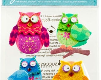 Stitched Owl Stickers