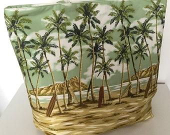 Beach Tote Bag Beach Bag Fabric Tote Bag