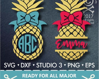 70% OFF SALE Pineapple Svg/ Monogram Frames  Svg/ Pineapple Frames Svg / Cutting files for use with Silhouette Cameo and Cricut