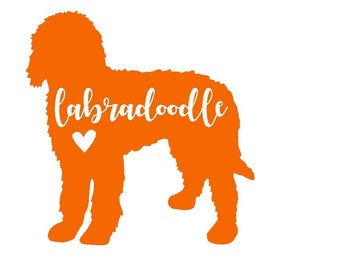 Labradoodle Vinyl Decal | Lab Decal | Pet Decal | Dog | Yeti Cup Decal | Car Decal | Laptop Sticker | Window Decal