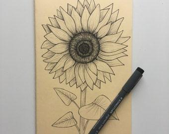 Sunflower Moleskine A5 Lined Notebook