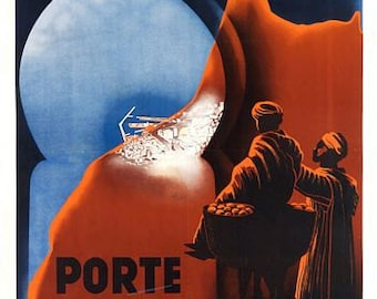Vintage Casablanca Morocco Tourism Poster A3 Print