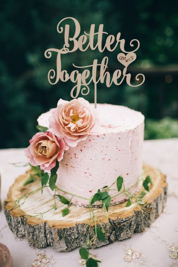 Better Together Silver Cake Topper