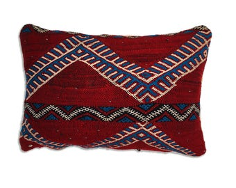 Kilim pillow cover. Moroccan pillow. Vintage cushion cover. Boho pillow. Moroccan decor Kilim decorative pillows Moroccan style Kilim fabric