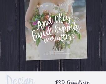 Wedding Photography Marketing, Photoshop Template, Marketing Board, Wedding Marketing Card, Photography Template, for Photographers, PSD