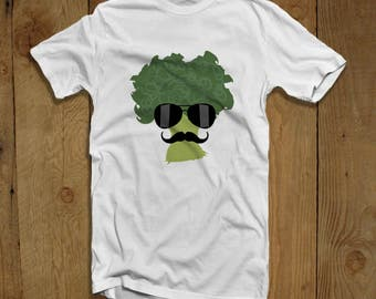 Detective Broccoli T-shirt for Men - Funny Broccoli Mustache T-shirt - Gifts for Detective - Broccoli Lovers Shirt for Him