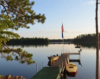 Wisconsin Lake, Up North, Boats, Midwest Photography, Wall decor