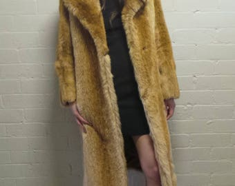 Long Soprano Faux Fur Coat