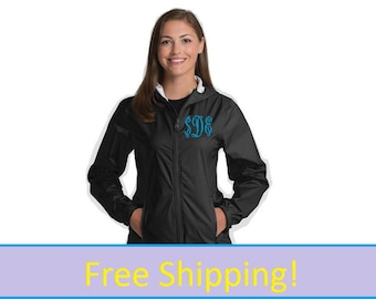 Women's Watertown Rain Jacket 5680, Free Monogram, FREE Shipping, Luxury Raincoat, New Periwinkle Color available,